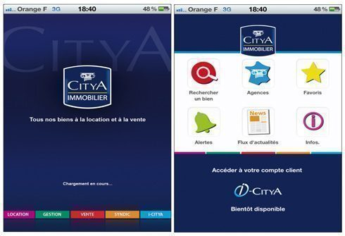 CITYA Immobilier lance sa nouvelle application iPhone !